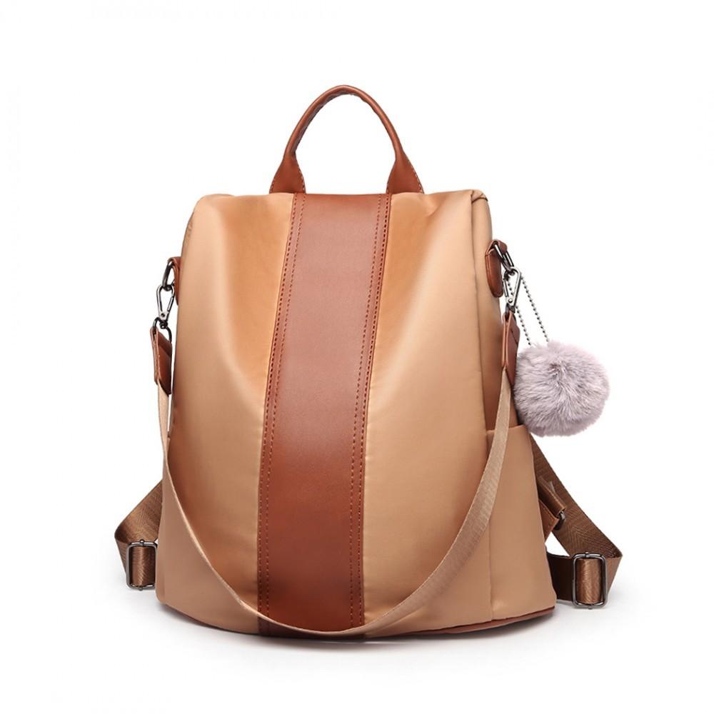 Hnědý stylový moderní dámský batoh/kabelka Ahana