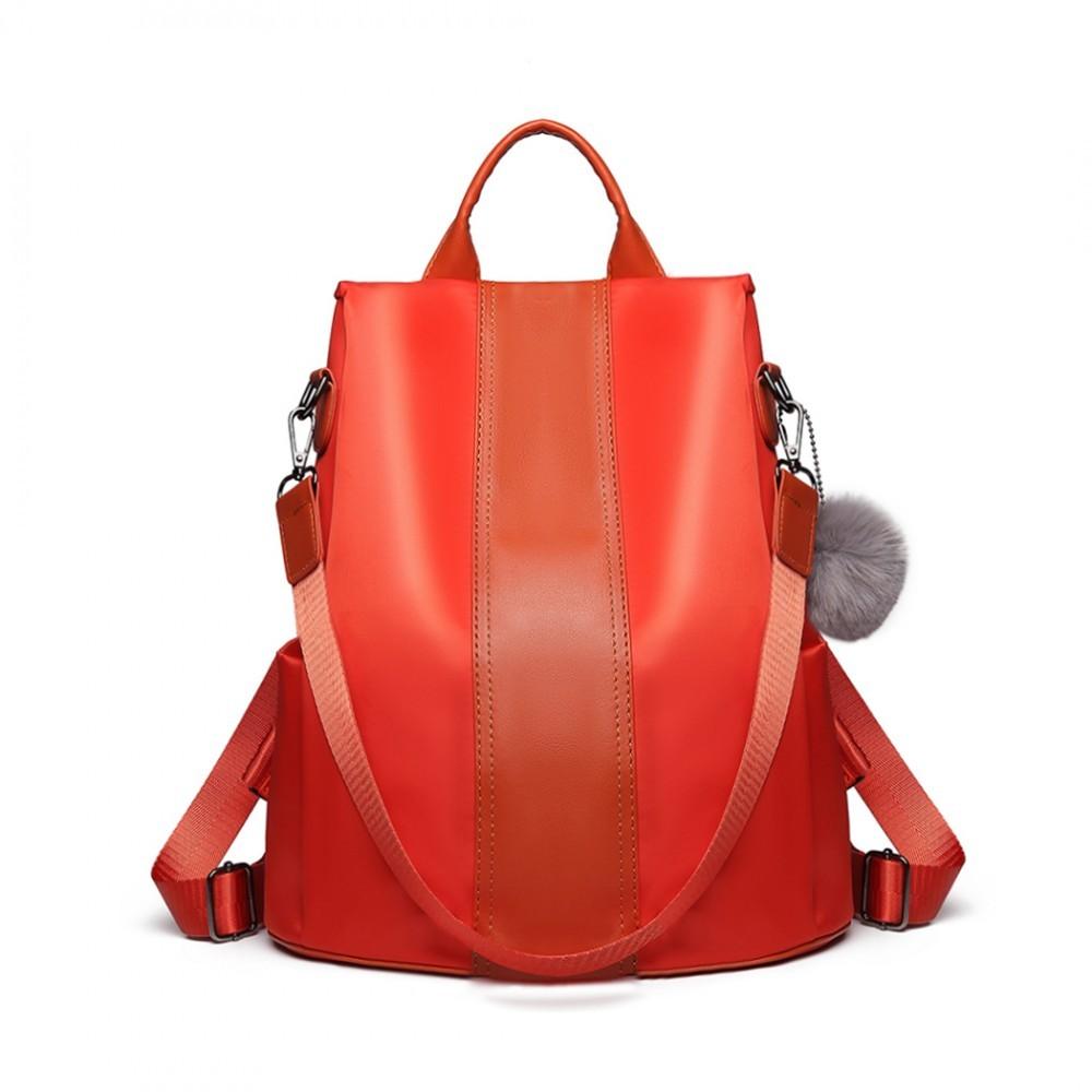 Oranžový stylový moderní dámský batoh/kabelka Ahana
