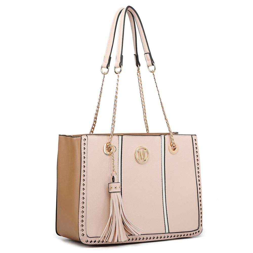 8ddcb6aff0 Růžová luxusní stylová dámská kabelka Souden