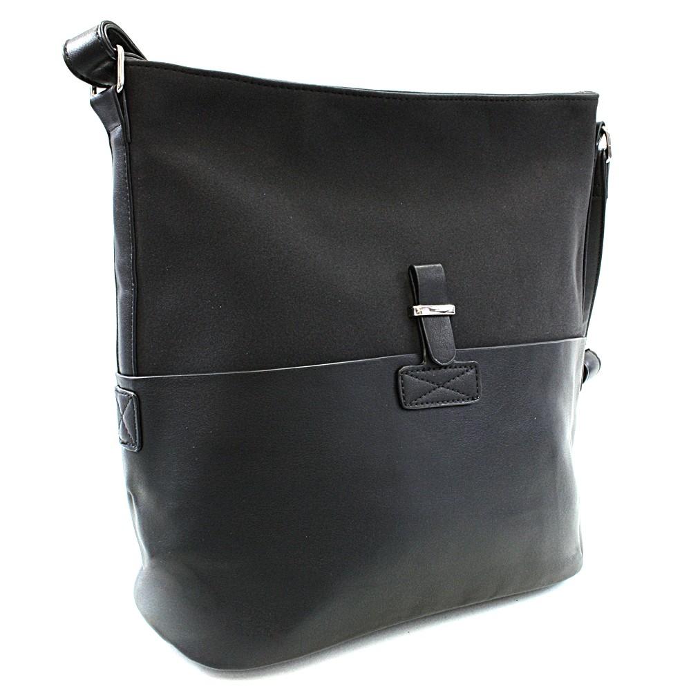45242f6597 Černá elegantní velká crossbody kabelka Zerlinda