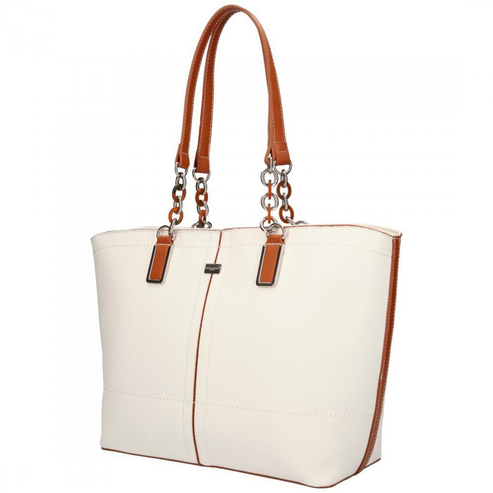 Bílá velká dámská kabelka přes rameno Aaliyah