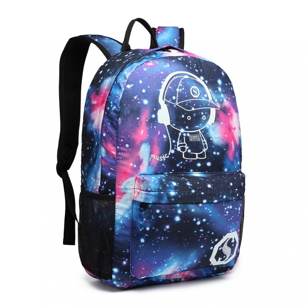 Modrý nepromokavý batoh zářící ve tmě Quira