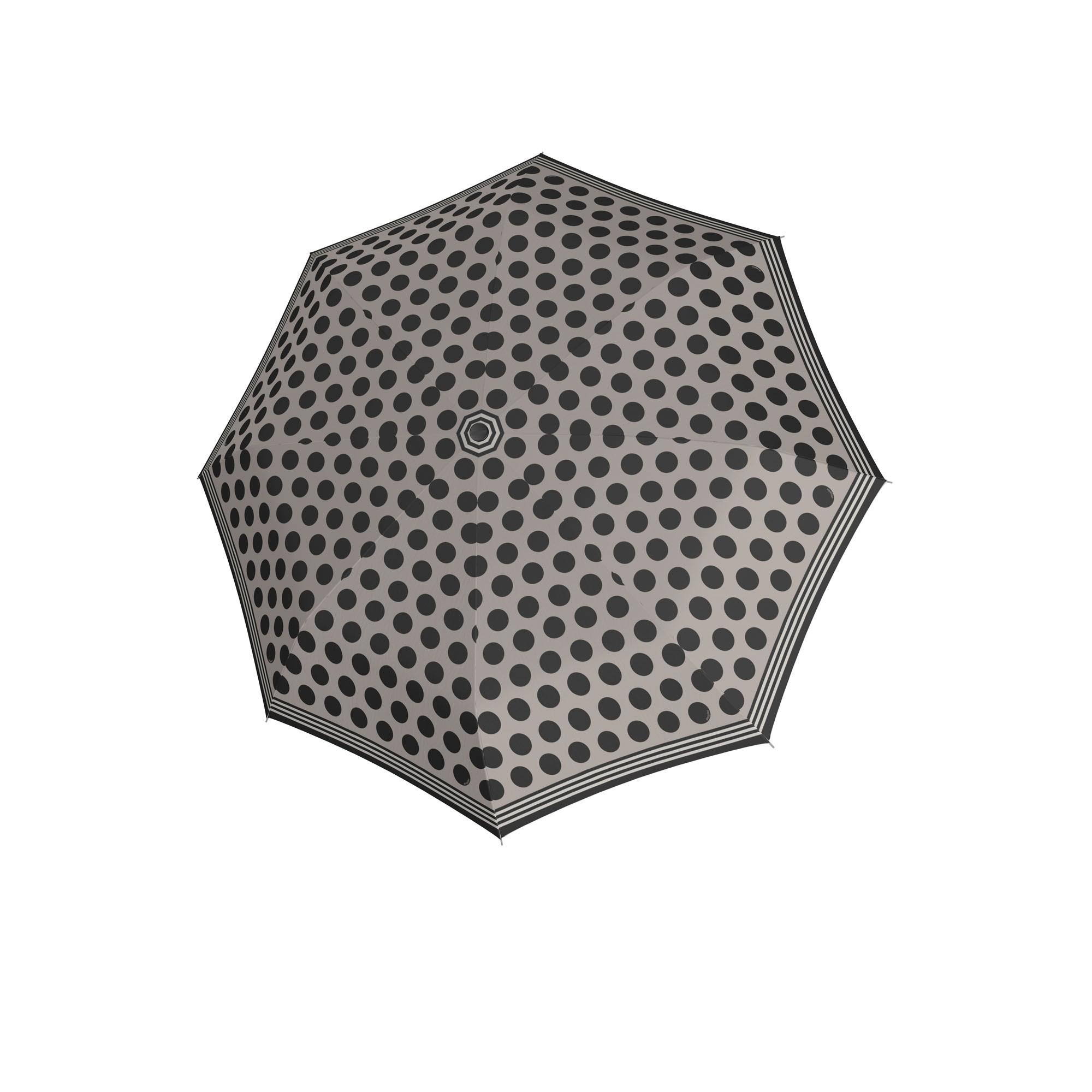 Šedý puntíkatý dámský skládací deštník Amis