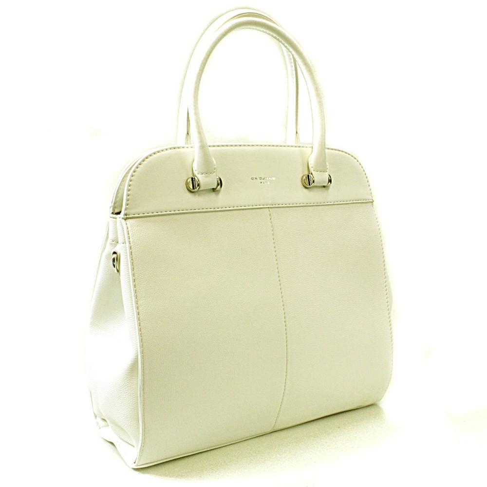 Bílá dámská luxusní kabelka Parry