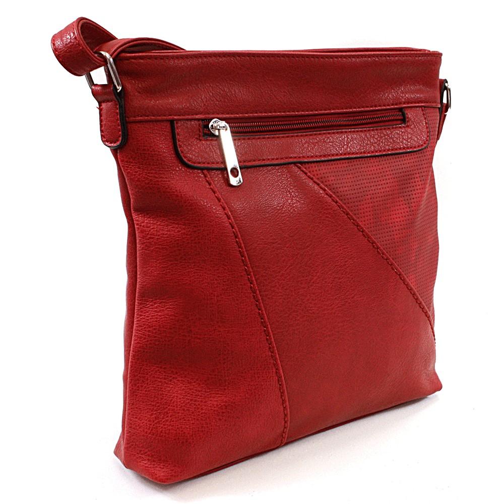 Červená dámská crossbody kabelka Pansi