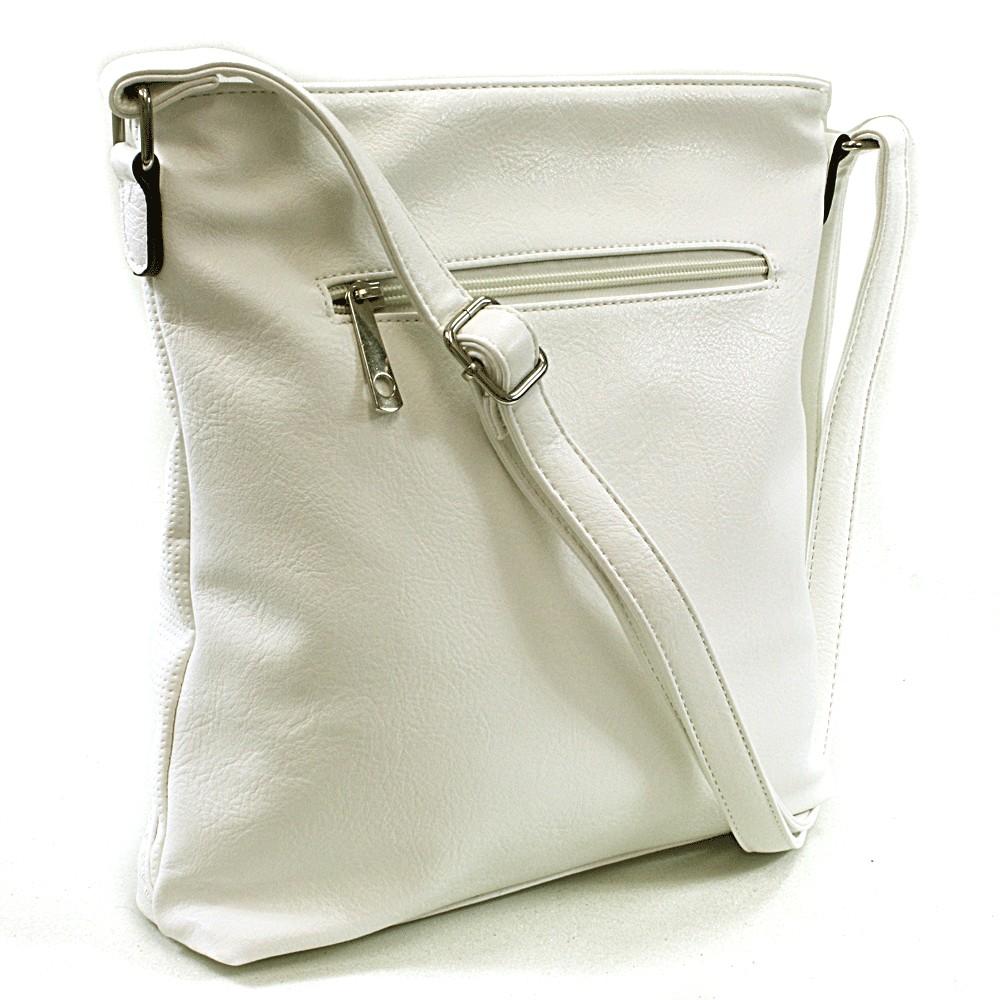 Bílá dámská crossbody kabelka Pansi