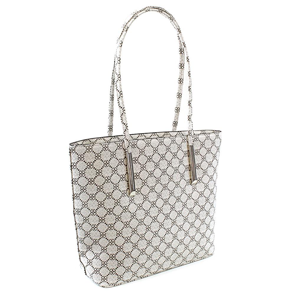 Bílá dámská luxusní kabelka přes rameno Pasha