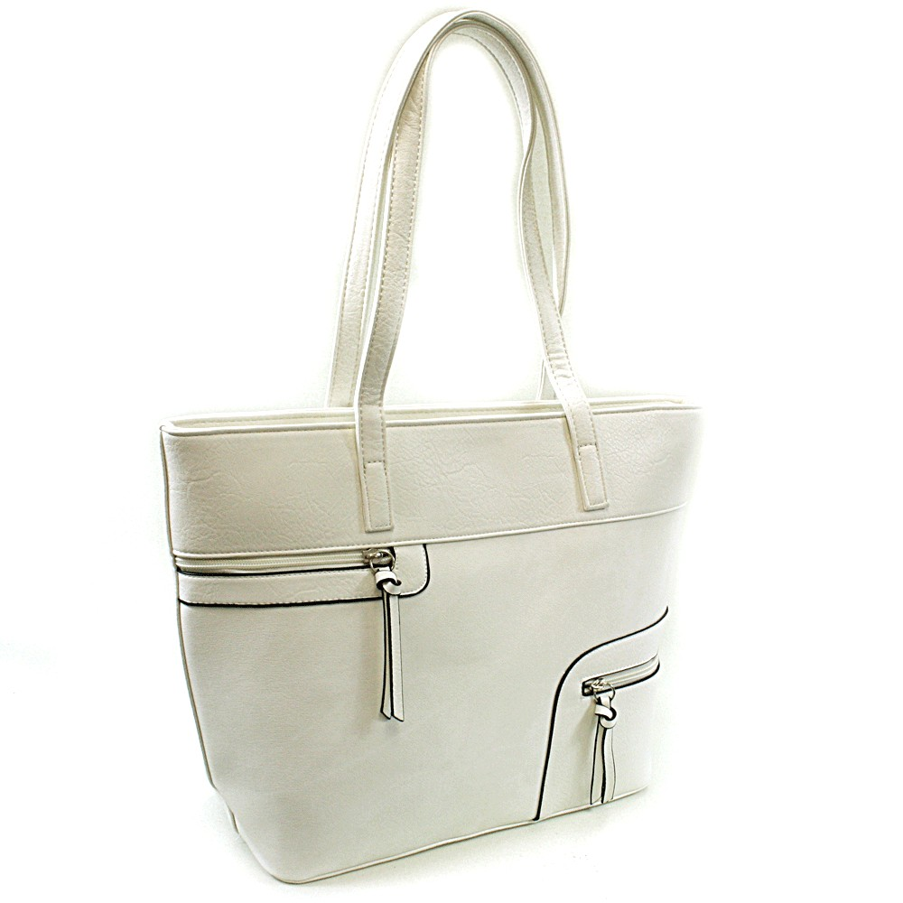 Bílá dámská praktická kabelka přes rameno Pathy