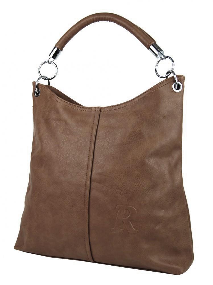 Hnědá moderní velká kabelka přes rameno Nathali
