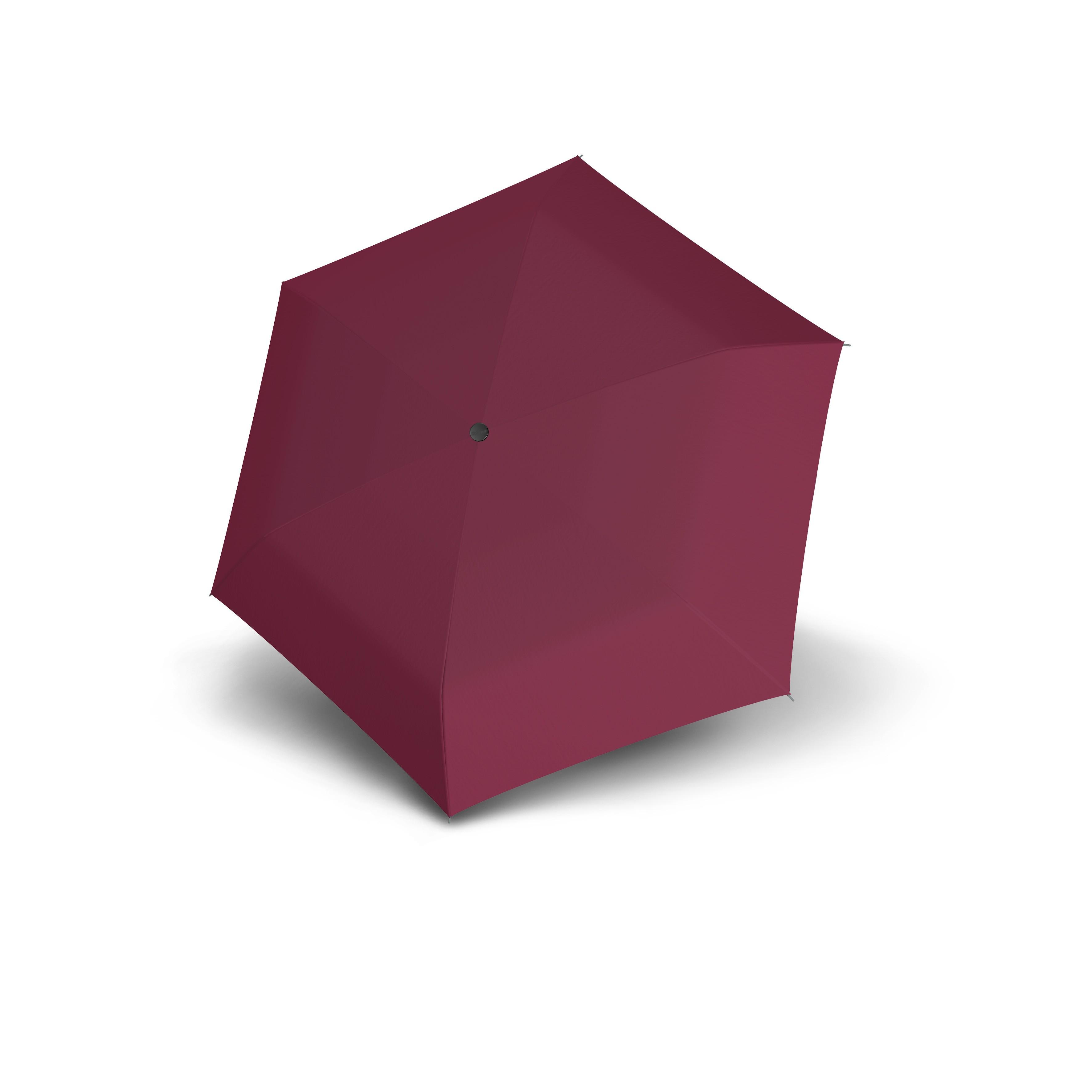 Vínový dámský plochý skládací deštník Ador