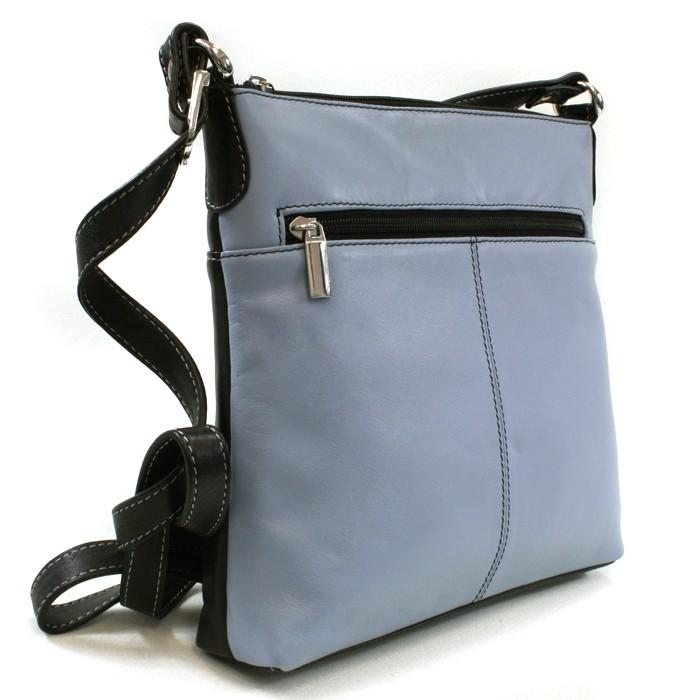 Modro černá dámská kožená crossbody kabelka Vatie
