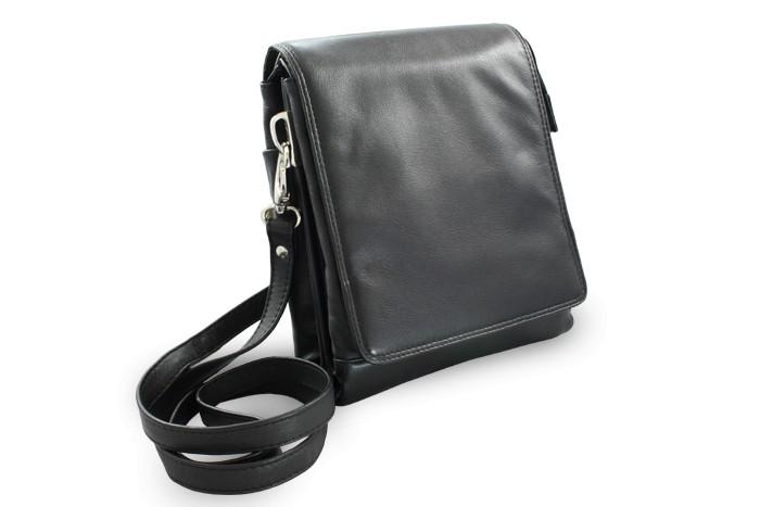 Černý velký kožený pánský crossbag Angela