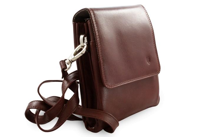 Hnědý malý kožený pánský crossbag Giselle