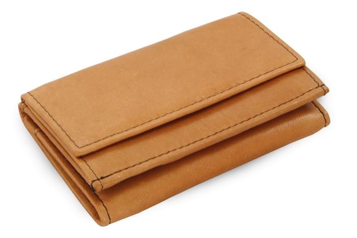 Světle hnědá dámská kožená mini peněženka Athena