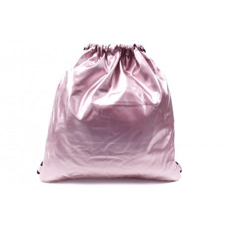 Růžový moderní lesklý vak Rowley