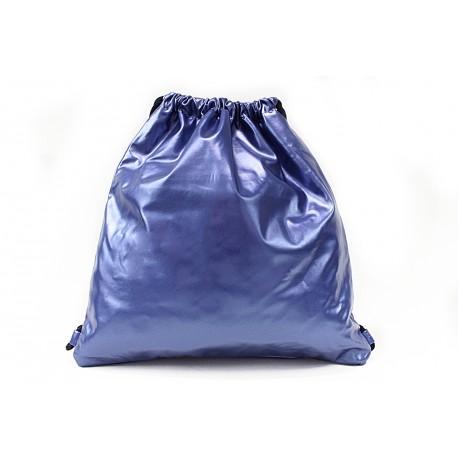 Modrá moderní lesklý vak Rowley
