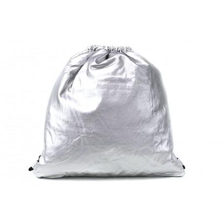 Stříbrný moderní lesklý vak Rowley