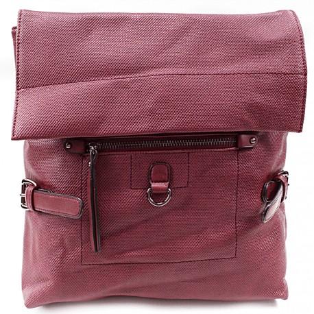Červený stylový dámský batoh Laney