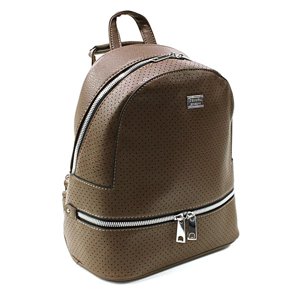 Tmavě hnědý moderní dámský batoh Acira