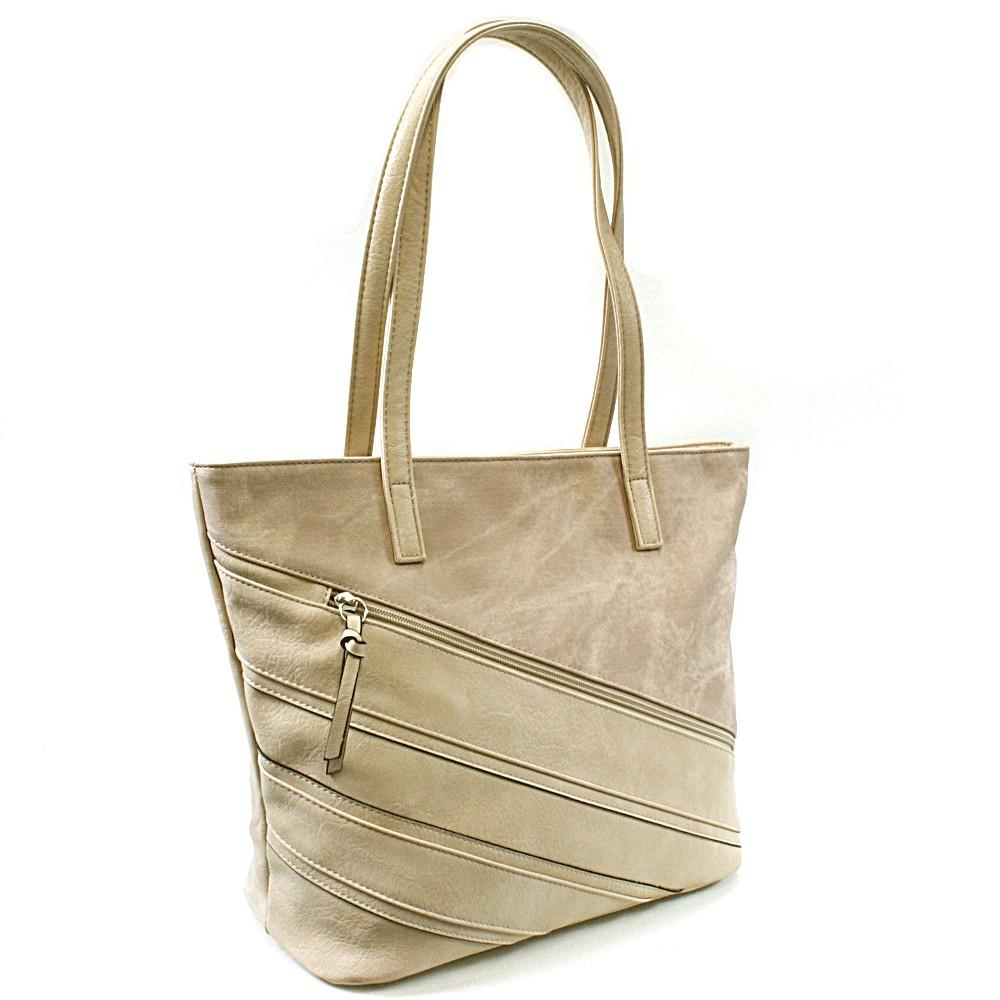 Béžová dámská kabelka přes rameno Zole