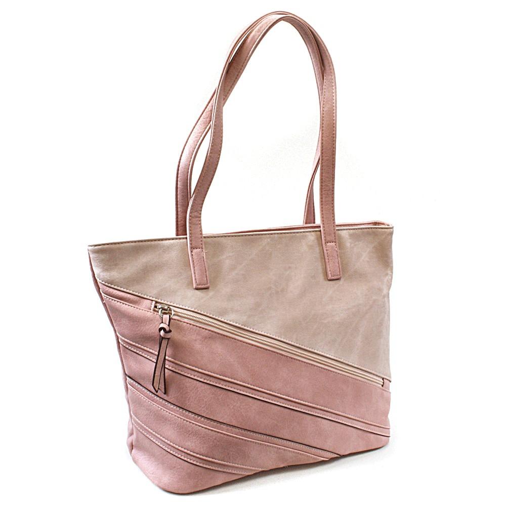 Růžová dámská kabelka přes rameno Zole