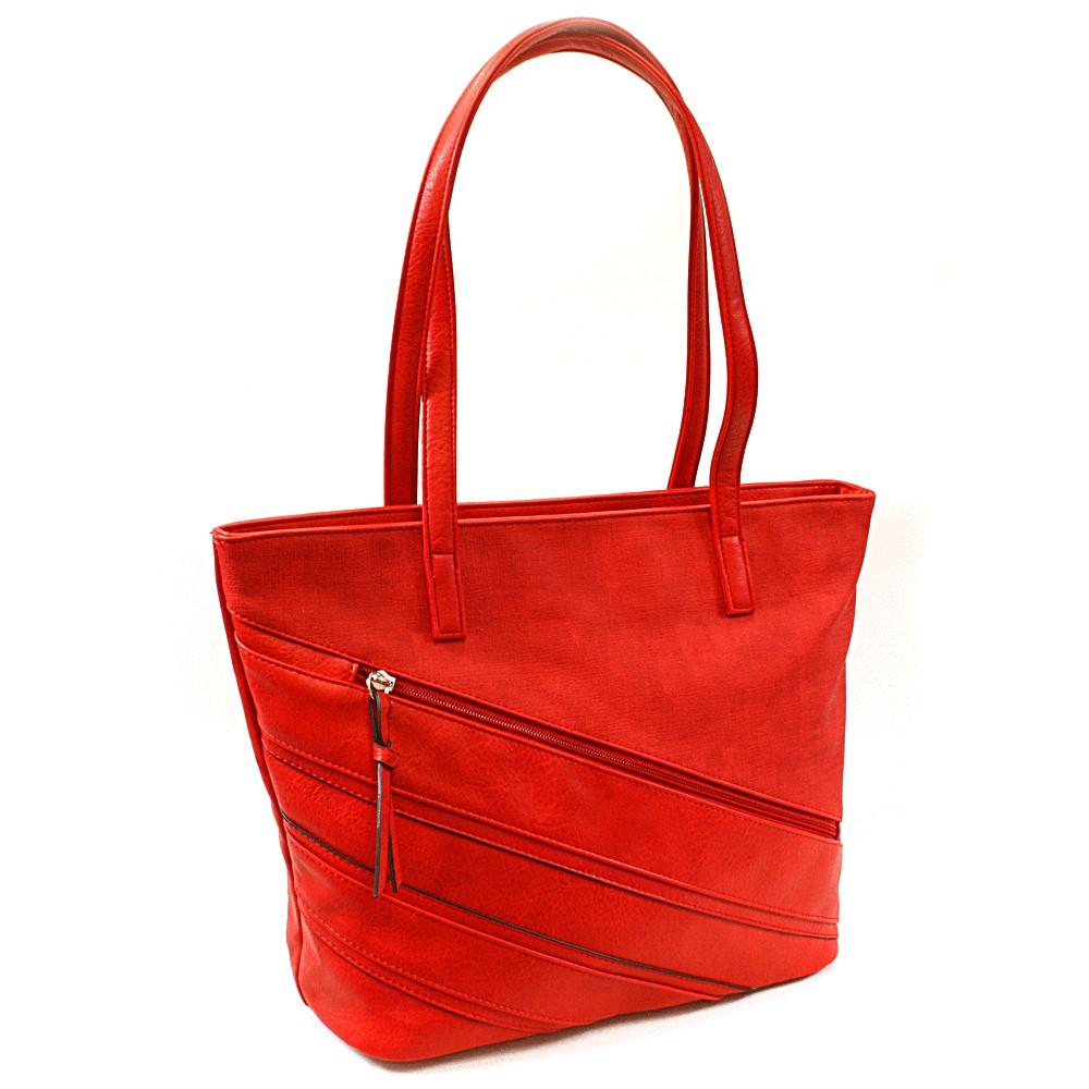 Červená dámská kabelka přes rameno Zole