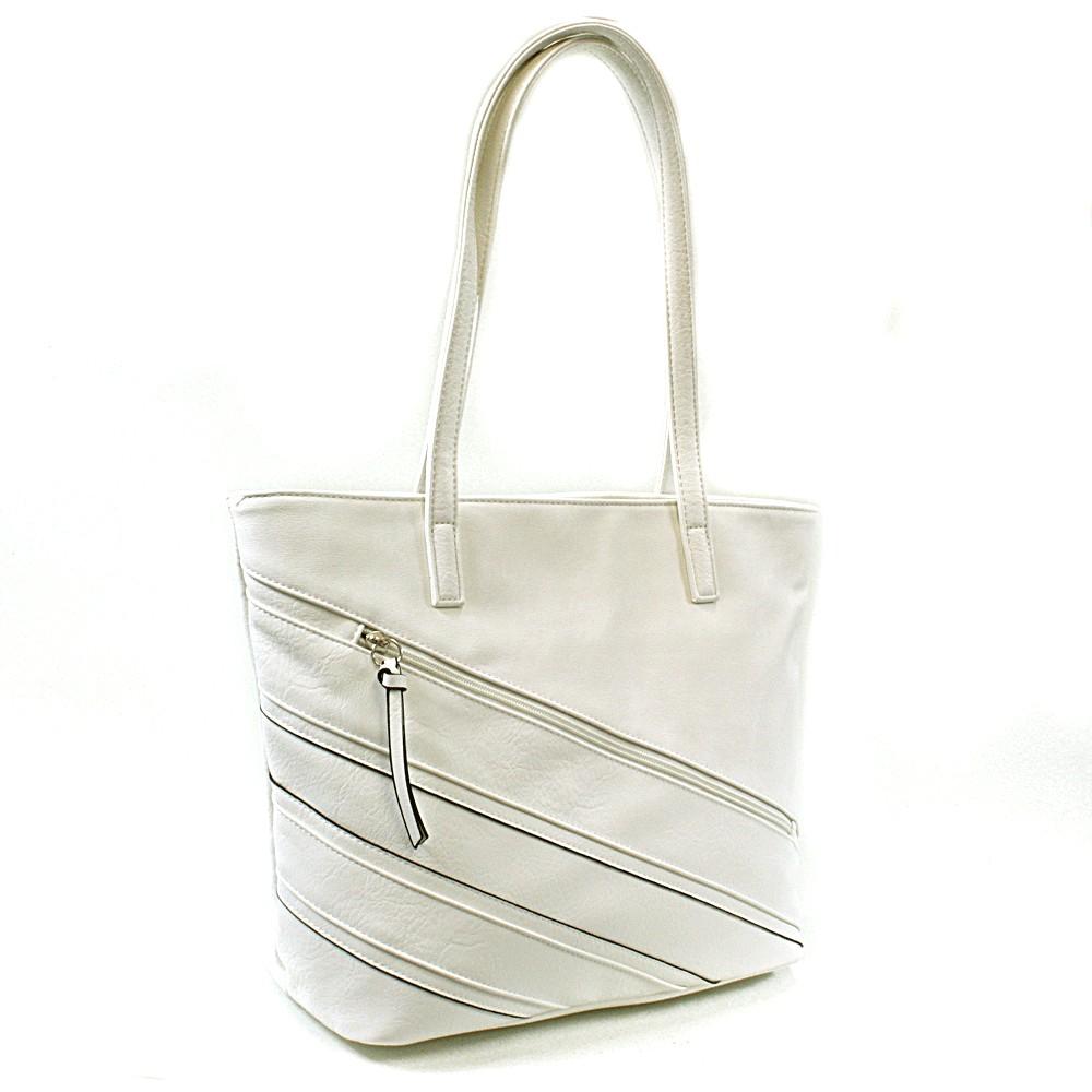 Bílá dámská kabelka přes rameno Zole