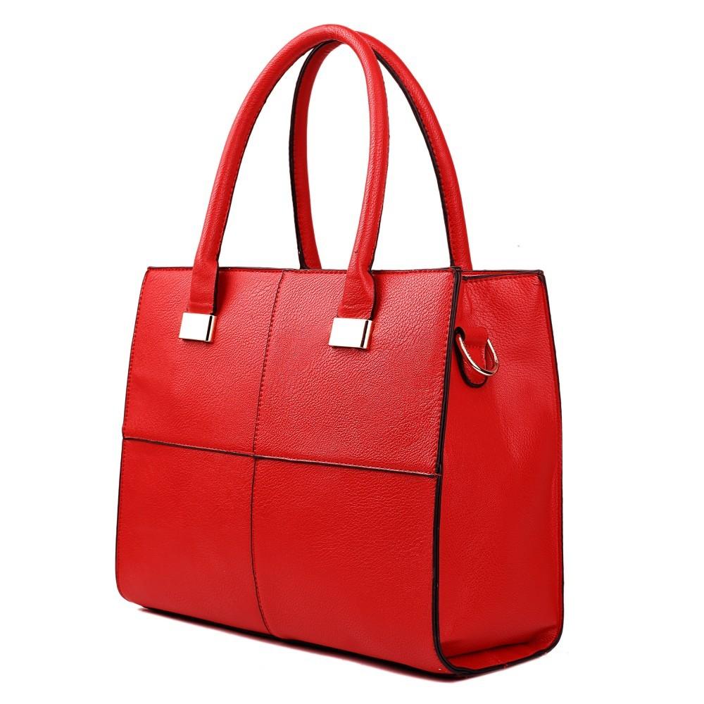 Červená netradiční kvalitní dámská kabelka Ladriel
