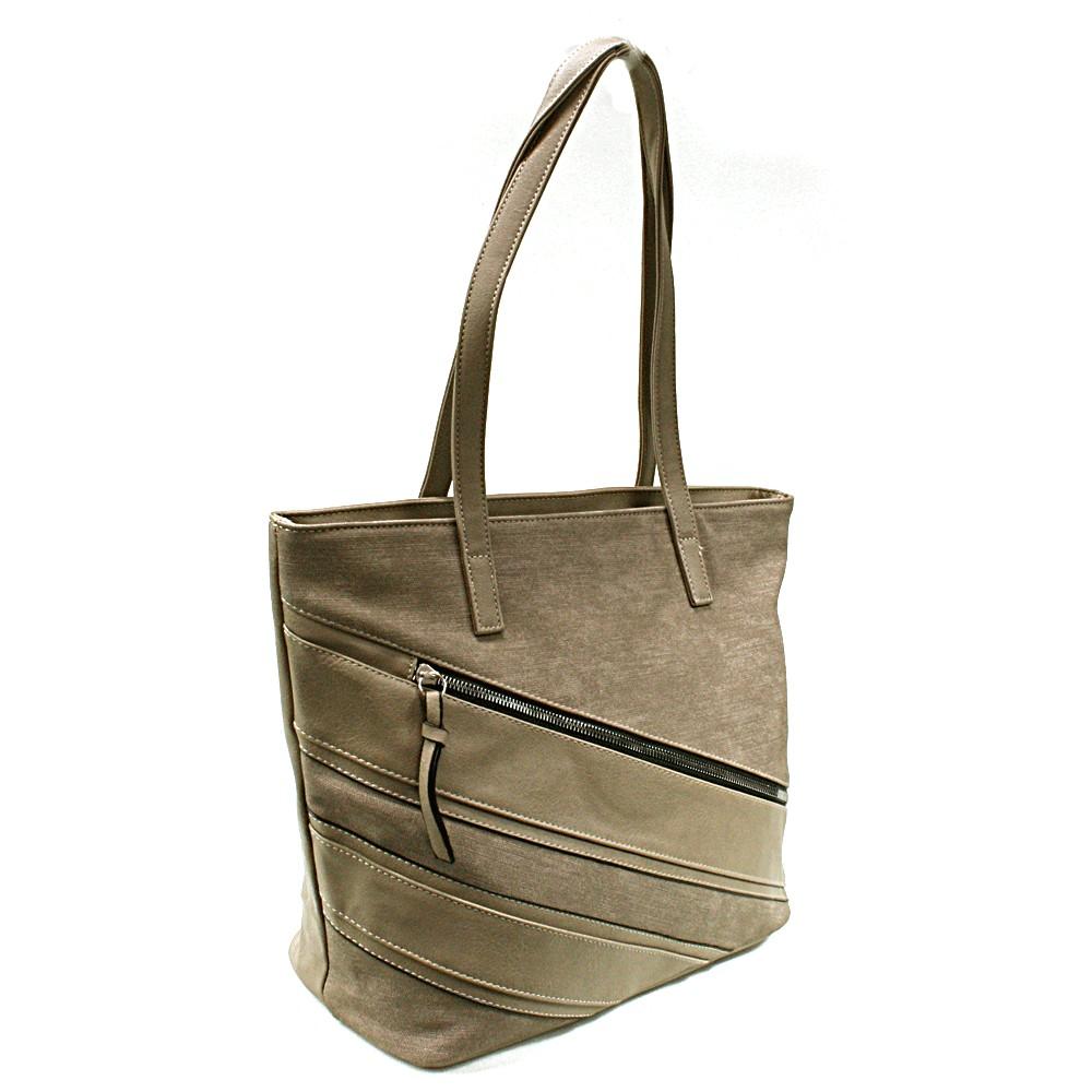 Hnědošedá dámská kabelka přes rameno Florence
