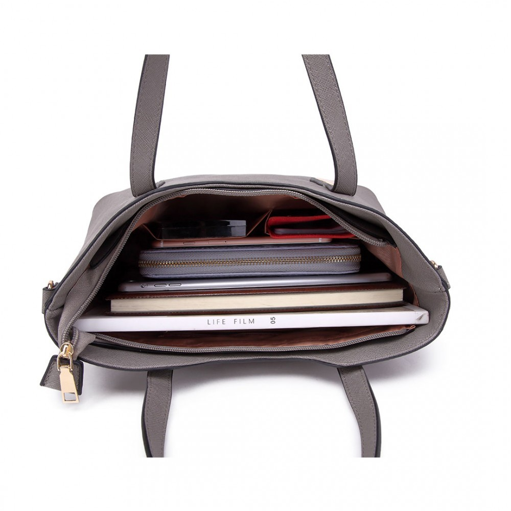 Šedý dámský kabelkový set 2v1 Triel