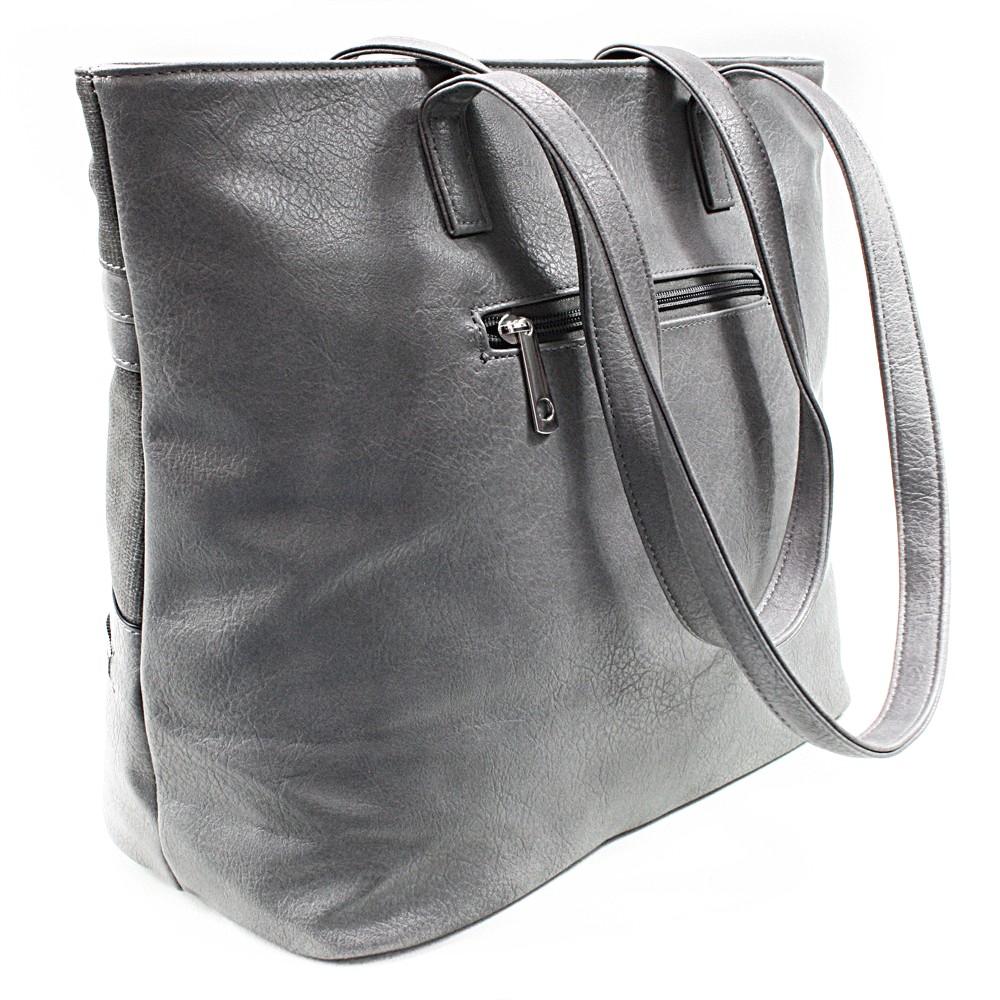 Šedá dámská praktická kabelka přes rameno Paige