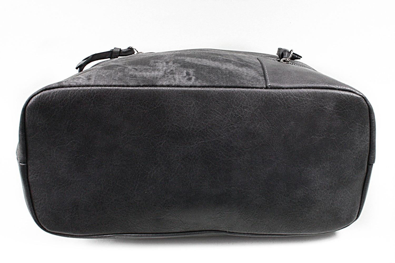 Tmavě šedá dámská praktická kabelka přes rameno Paige