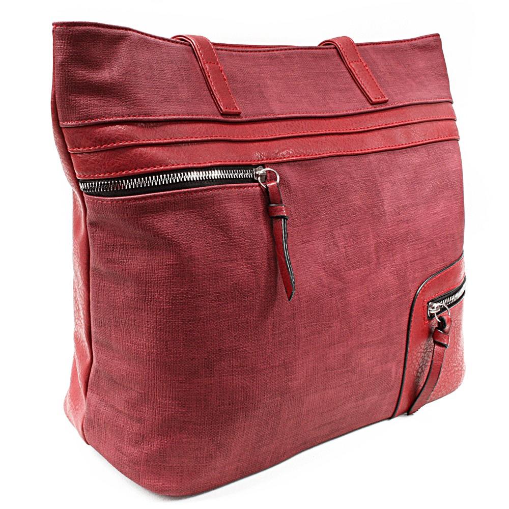 Červená dámská praktická kabelka přes rameno Paige