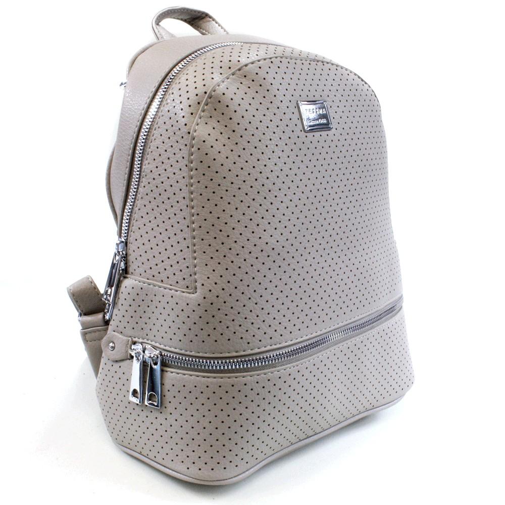 Šedý moderní dámský batoh Alick