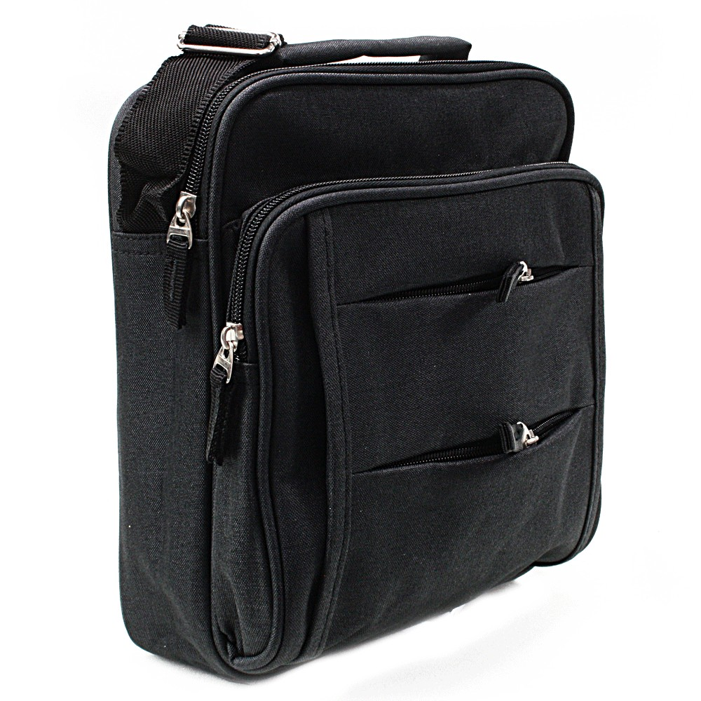 Černá pánská praktická crossbody taška Abdon