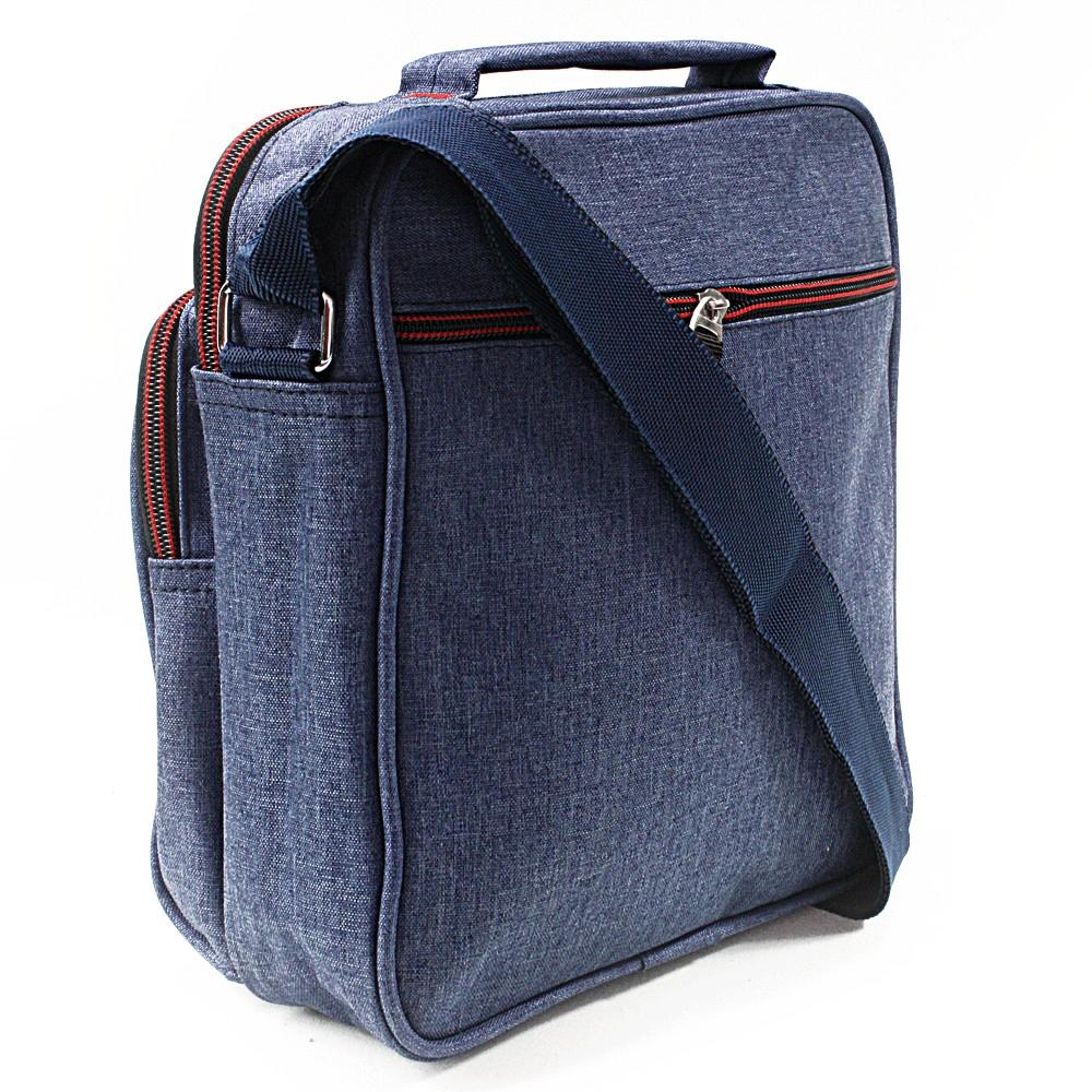 Modrá pánská praktická crossbody taška Abdon