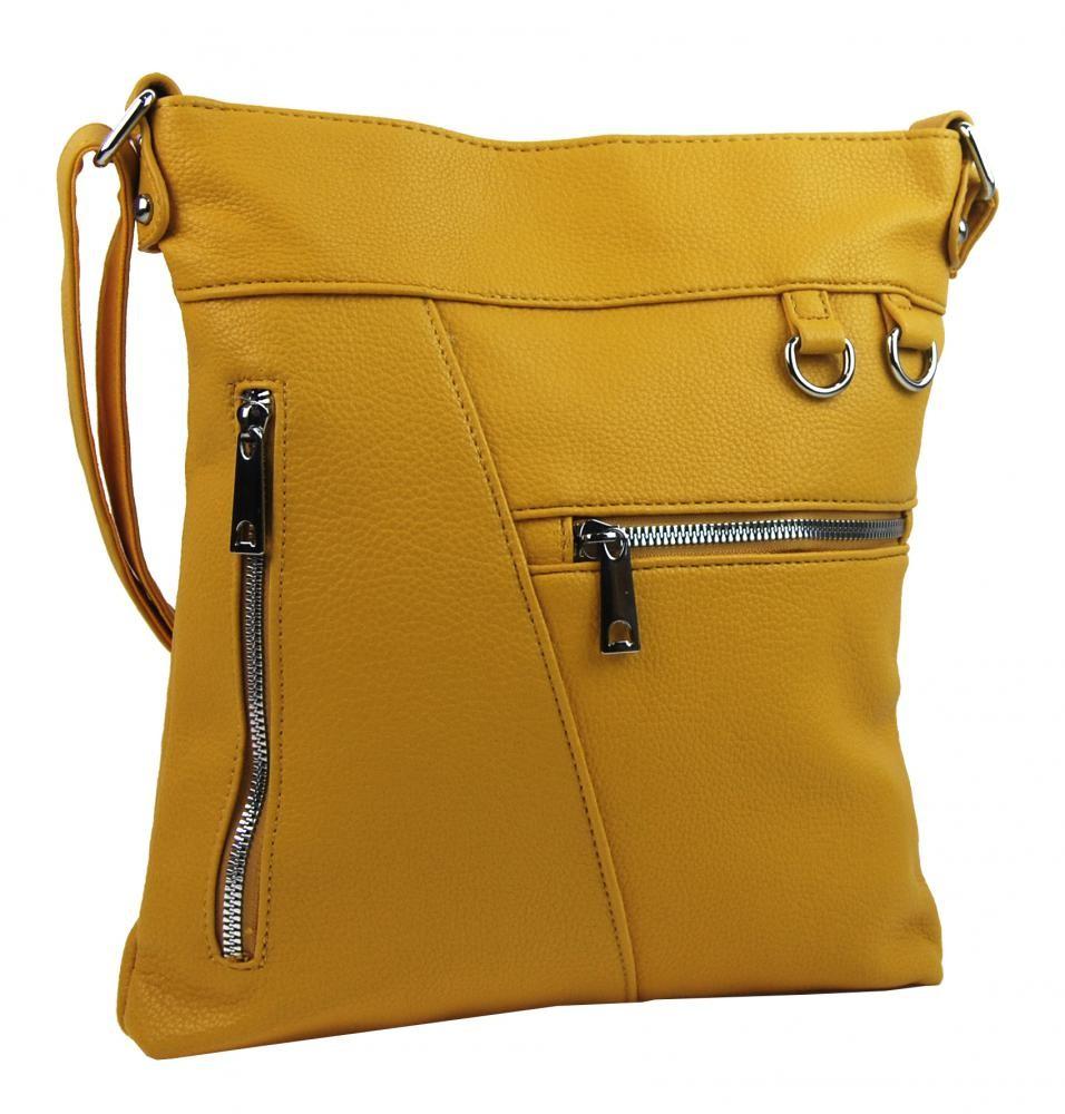 Žlutá crossbody dámská kabelka Crediel