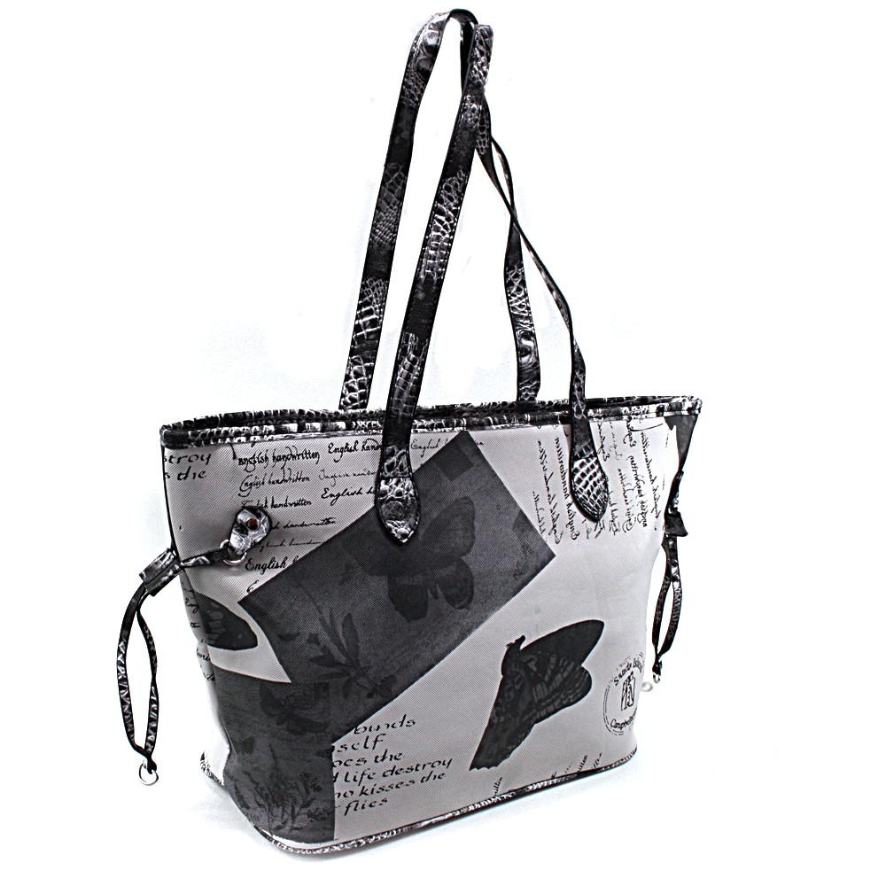 Černošedá dámská kabelka přes rameno Hufie