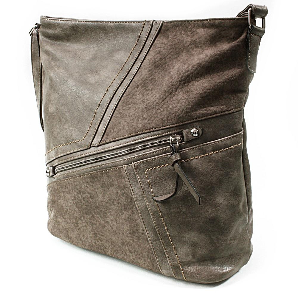 Šedohnědá dámská módní kabelka Norrie