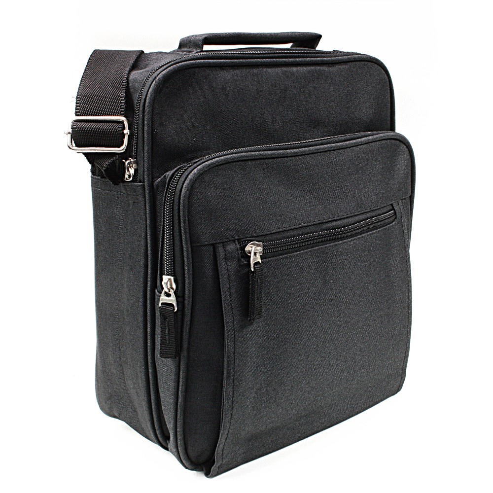 Černá pánská praktická crossbody taška Brent