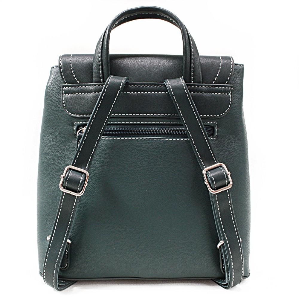 Tmavě zelený elegantní dámský batoh Kalcey