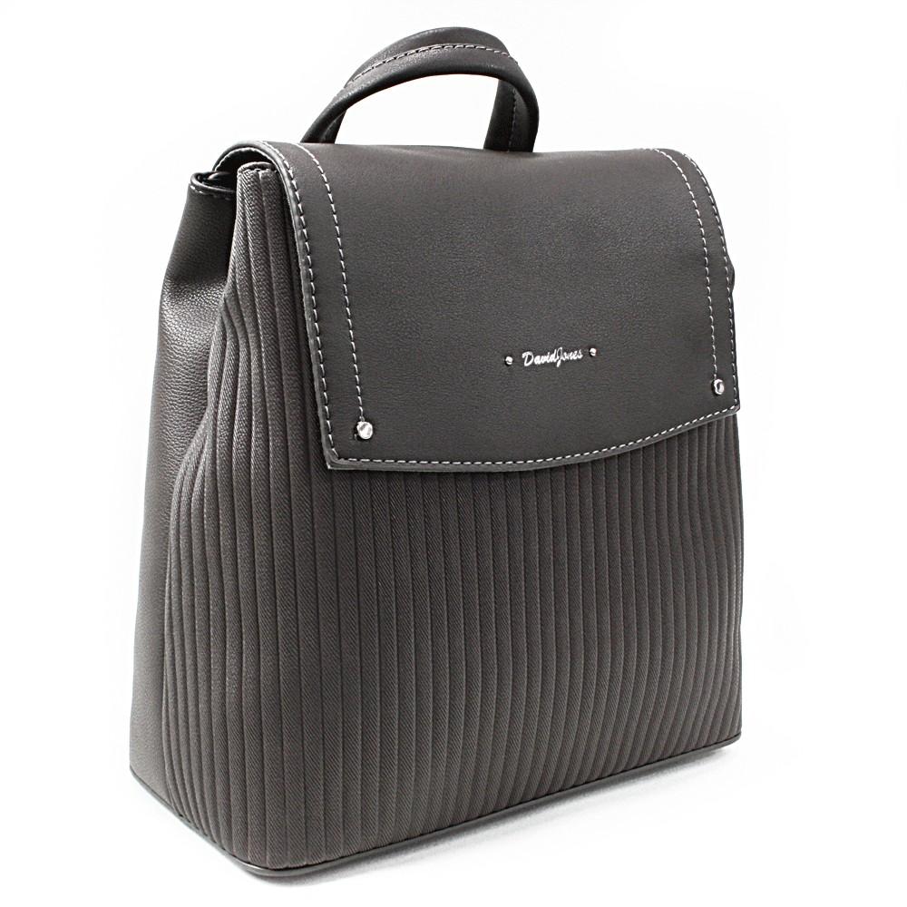 Tmavě šedý elegantní dámský batoh Kalcey