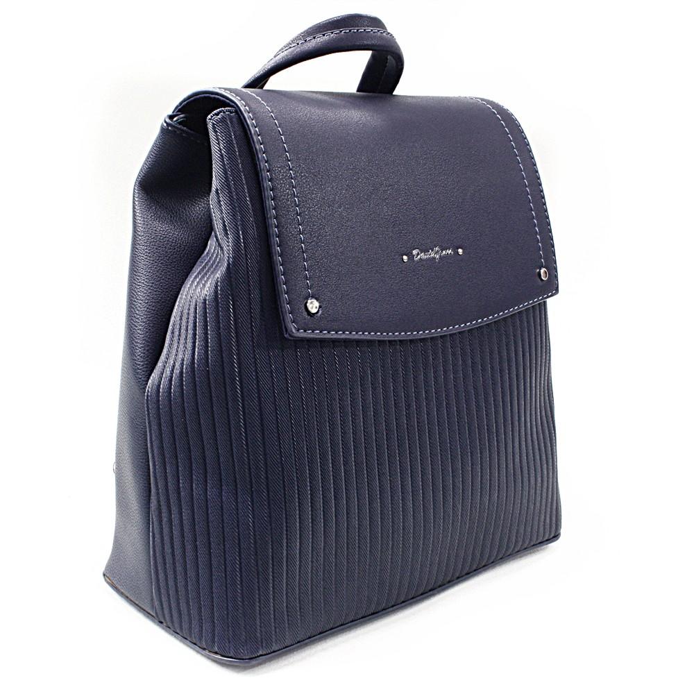 Tmavě modrý elegantní dámský batoh Kalcey