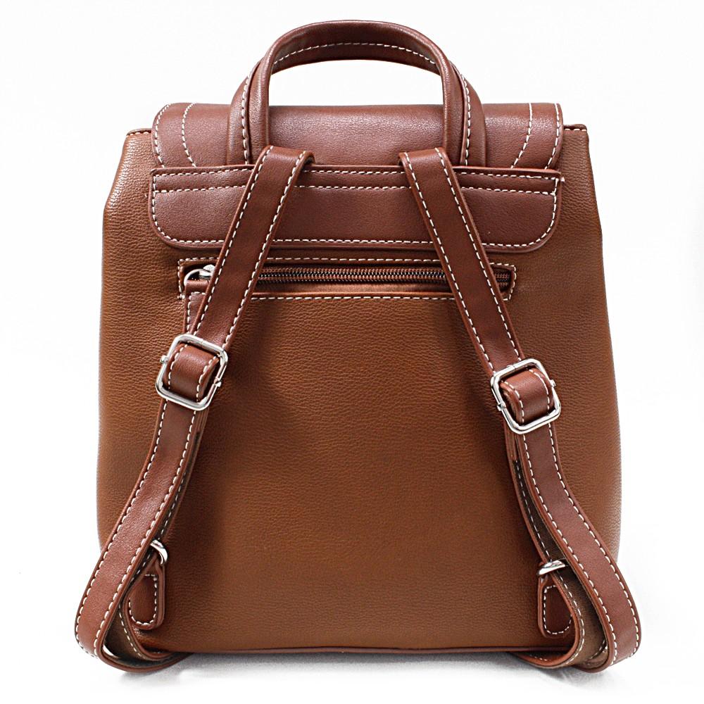 Hnědý elegantní dámský batoh Kalcey