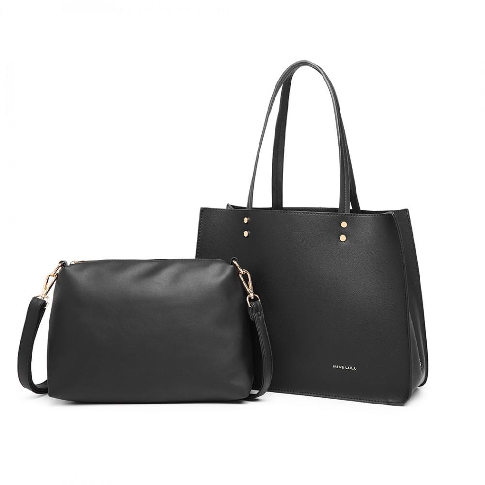Černý praktický dámský 2v1 kabelkový set Britta
