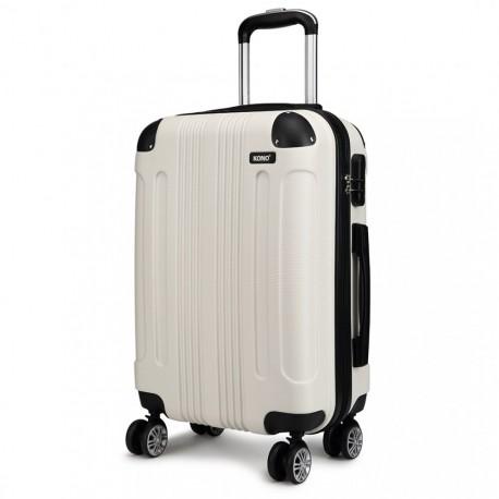 Světlý cestovní kvalitní prostorný kufr Amol