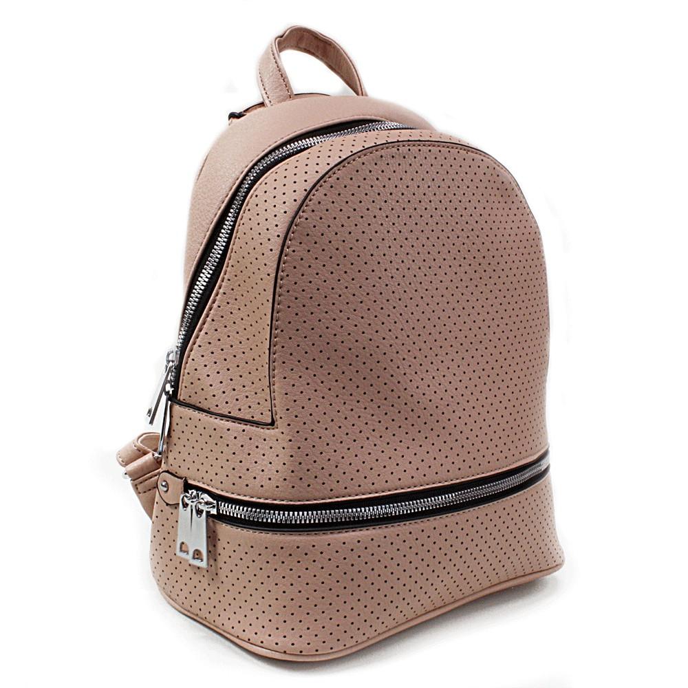 Ružový moderní dámský batoh Alick