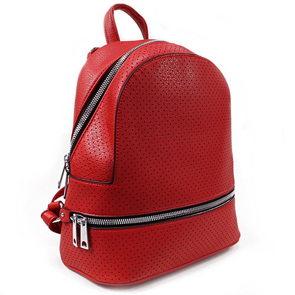Červený moderní dámský batoh Alick