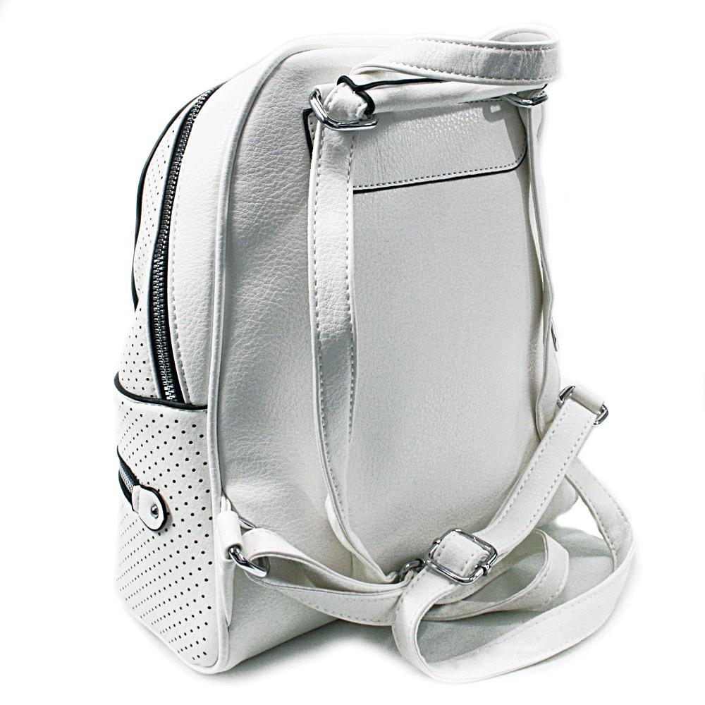 Bílý moderní dámský batoh Alick