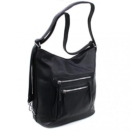 Černá dámská crossbody kabelka a batoh Ascelina